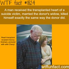 Transplanted heart of suicide victim - WTF fun facts