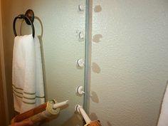 How to Frame A Bathroom Mirror!!!!!!