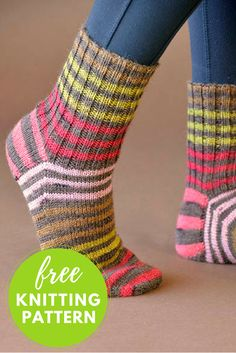 Back to Basics Socks Free Knitting Pattern - 1 skein knitting project! : Back to Basics Socks Free Knitting Pattern – 1 skein knitting project! Knitted Socks Free Pattern, Crochet Socks, Knitting Socks, Knitting Needles, Knitting Patterns Free, Free Knitting, Knit Crochet, Knit Socks, Debbie Macomber