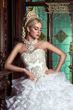 I absolutely love the detail and embellishments...I would so wear a dress like this one   Florian gelin kolyesi / Florian necklace of bride | Nazo design