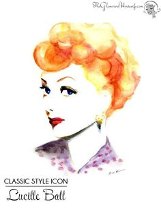 Classic style icon Lucille Ball is known for her glamour as well as her impeccable comedic timing. Here is my modern take on this gorgeous comedian.