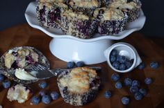 Blueberry Biscuit Muffins | A Biscuit & Muffin Combined into one easy, one bowl recipe!