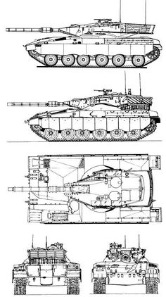 M60A2 Starship Blueprint Download free blueprint for 3D