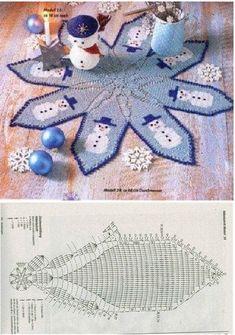 Adornando la Navidad con tapetes y cubremanteles espectaculares | Otakulandia.es Christmas Crochet Patterns, Holiday Crochet, Kids Rugs, Holidays, Home Decor, Xmas, Crafts To Make, Home Decorations, Ornaments