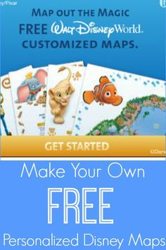 Free Personalized Disney World Maps - Great for Planning or a Keepsake