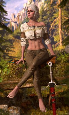 Steam Community: The Witcher Wild Hunt. Witcher 3 Art, Ciri Witcher, The Witcher Wild Hunt, The Witcher Game, Fantasy Characters, Female Characters, Geralt And Ciri, Witcher Wallpaper, Cosplay