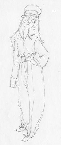 Anastasia - Concept Art - Anastasia's Costumes and Proportions