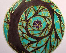 Mandala -  Art spirituel - Arbre de lumières - arbre de vie, de méditation -