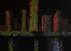 Z serii - Artefakty, akryl na płycie / Series - Artifacts, acrylic on board / 50x70 cm, 2013. http://pawgalmal.blogspot.com