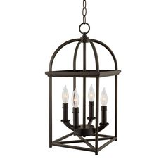 Kira Home Amesbury Farmhouse Lantern Chandelier, Bird Cage Entry Light, Oil Rubbed Bronze Finish to buy online for the cheapest price and free delivery. Birdcage Chandelier, Lantern Chandelier, Pendant Chandelier, Pendant Light Fixtures, Lantern Pendant, Ceiling Pendant, Chandelier Lighting, Chandeliers, Chandelier Ideas