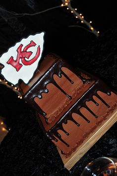 """Kansas City Chiefs cake for my """"groom cake"""" if we ever have are real weddin...lol."""
