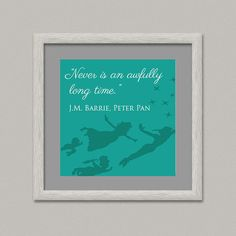 PETER PAN II Quote Kids Wall Decor Printable Digital by OopsyIdeas