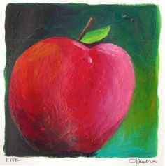 """Day 5-(1/5/13)Today's Spondylitis Apple for a Cure is called """"Pink Breast Cancer Awareness Apple."""" Check out the artist's blog and find out her reasoning behind this interesting creation. As always repin!"""