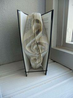 Book folding Pattern for TREBLE CLEF. Music lover-Handmade