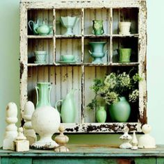 Great repurpose for an old window