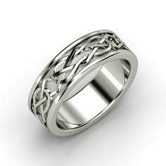 Men's Sterling Silver Ring | Kells Celtic Wedding Band | Gemvara (book of kells: keep calm and carry on)