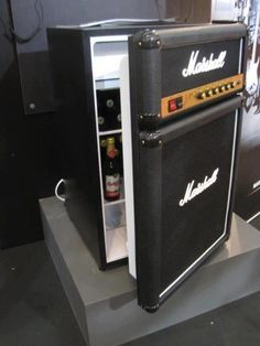 HAHA beer fridge for the music room