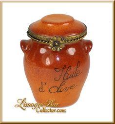 Jar of Olive Oil Limoges Box - Retired