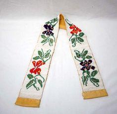 Native American Chippewa Beaded Doeskin Belt : Lot 1309