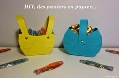 Avec ce DIY, apprenez à fabriquer de jolis paniers en papier pour accueillir vos œufs de Pâques ^^