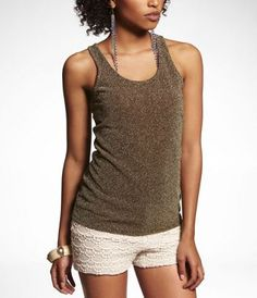 SPARKLE RACERBACK TANK at Express