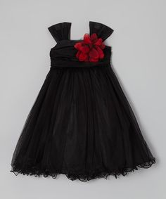 Take a look at this Black Flower Dress - Toddler & Girls by Kid's Dream on #zulily today!