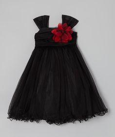 Black Flower Dress - Toddler & Girls #zulily #zulilyfinds