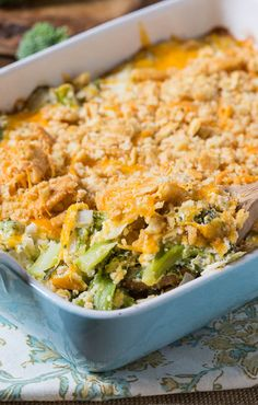 Broccoli Casserole with a cheesy Ritz cracker topping.