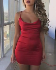 Sexy Homecoming Dresses, Sexy Summer Dresses, Sexy Party Dress, Tight Dresses, Satin Dresses, Sexy Dresses, Short Dresses, Red Satin Dress Short, Mini Dresses