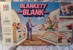Vintage Blankety Blank Board Game. 1983. MB Incomplete for spare parts only