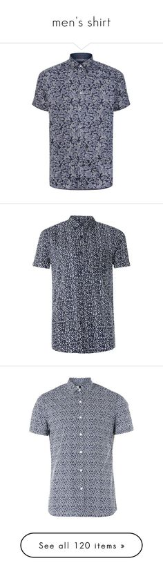 """men's shirt"" by rannymarcella ❤ liked on Polyvore featuring men's fashion, men's clothing, men's shirts, men's casual shirts, ted baker mens shirts, mens floral shirts, flower print mens shirt, mens floral button down shirts, mens graphic t shirts and blue"