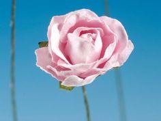 Fiori finti - Roselline in Carta Rosa pz.72 - un prodotto unico di raffasupplies su DaWanda