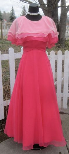 Vintage Fashion 1960's Pink Chiffon Prom Dress by delilahsdeluxe, $83.50