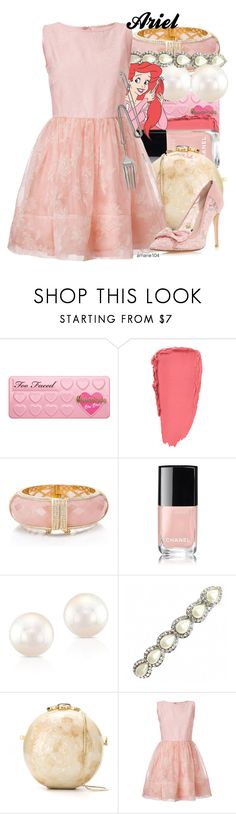 """Ariel"" by amarie104 ❤ liked on Polyvore featuring Kate Spade, Chanel, Anne Sisteron, Serpui, RED Valentino and Tom Binns"
