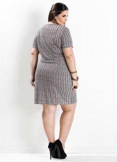 Vestido Tubinho (Estampado) Plus Size