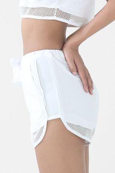 The Breaker Shorts White Track Shorts by NunBangkok on Etsy