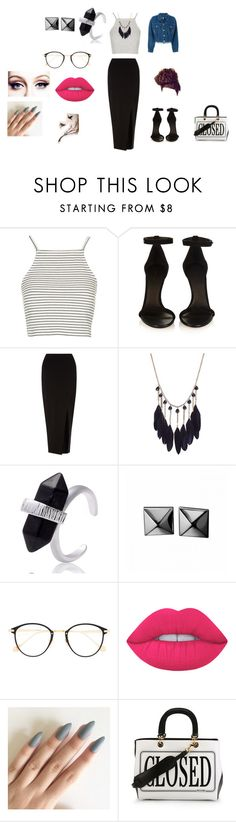 """""""Sem título #30"""" by thaisinhafontesgomes on Polyvore featuring moda, Topshop, Isabel Marant, Miss Selfridge, Waterford, Frency & Mercury, Lime Crime, Moschino e Jean-Paul Gaultier"""
