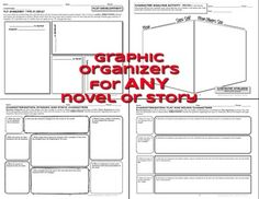 Reading Nonfiction & Fiction Graphic Organizers Grades 6, 7, 8 - 95 graphic organizers to use with ANY text: articles, speech transcripts, textbook chapters, historical documents, novels, stories, poetry, etc.