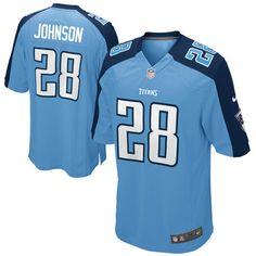 8045d573b Youth Nike Chris Johnson Light Blue Tennessee Titans Alternate Game Jersey