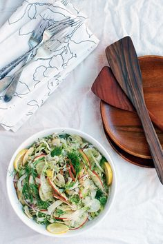 shaved fennel, brussels sprout, and apple salad // brooklyn supper Brussel Sprout Salad, Sprouts Salad, Brussels Sprouts, Fennel Salad, Thanksgiving Recipes, Holiday Recipes, Apple Salad, How To Cook Quinoa, Salads