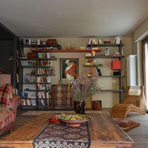 casa b. 2016 -studio Lara Comino- Living Rooms, Bookcase, Shelves, Studio, Home Decor, Lounges, Study, Room Decor, Book Shelves