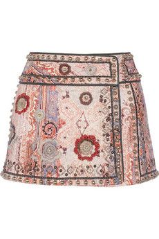 Isabel Marant Jeffrey printed cotton-blend wrap mini skirt | THE OUTNET