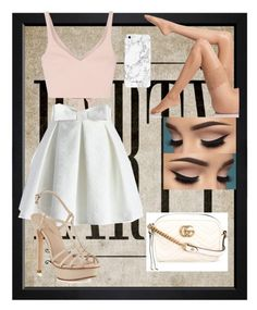 """""""Date Night"""" by queen-alex2002 on Polyvore featuring Hatcher & Ethan, Elizabeth and James, Chicwish, Pelle Moda, Wolford and Gucci"""