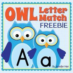 Free owl letter match! Super cute