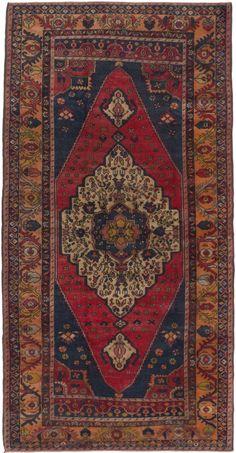 "3'9"" x 7'5"" Vintage Turkish Anatolian Rug"