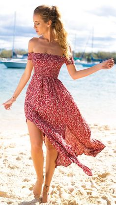 Prairie Pink Off Shoulder Maxi Dress