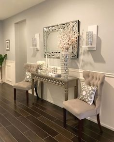 Akzentfarben der Wand - home design - Design Home Living Room, Living Room Designs, Living Room Decor, Bedroom Decor, Living Area, Bedroom Designs, Modern Bedroom, Hallway Decorating, Entryway Decor