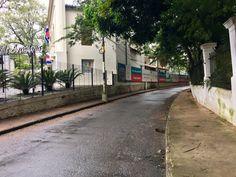 Una calle de Asunción-Paraguay.Curva San Miguel