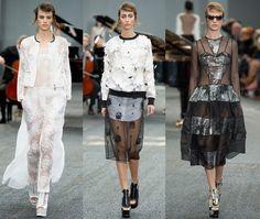 Erdem: Blanco y negro con transparencias para siluetas modernas para una chica con mucho estilo. #LondonFashionWeek