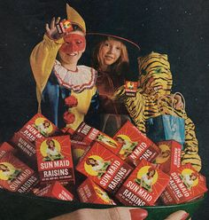 1964 Sun Maid Raisins print ad Trick or Treat by Vividiom on Etsy, $8.00